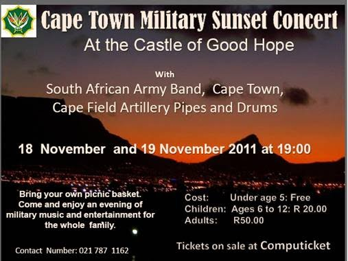 Cape Town Military Sunset Concert flyer