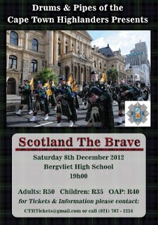 Cape Town Highlanders Concert poster