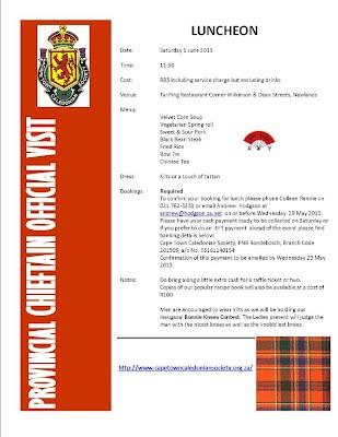 Flier to Members Provincial cheiftan visit