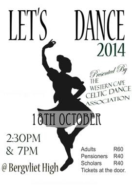 Let's Dance 18 October 2014 flyer